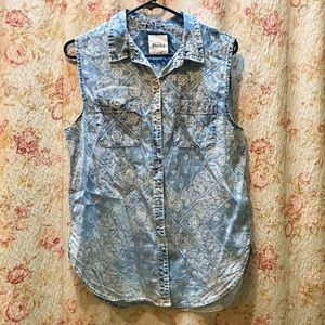 Cute Patterned Denim Shirt